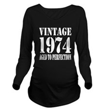 Vintage 1974 Aged To Perfection Long Sleeve Matern