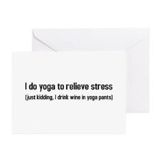 I do yoga to relieve str Greeting Cards (Pk of 10)