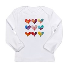HEARTS IN WATERCOLOR Long Sleeve T-Shirt