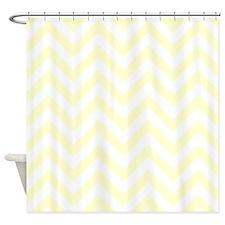 light Yellow chevrons Shower Curtain