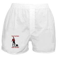 Lumberjack CUSTOM TEXT Boxer Shorts
