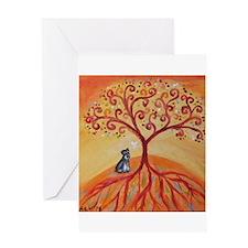 Schnauzer Tree of Life Greeting Cards