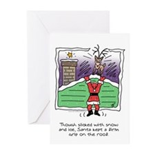Dangling Claus Greeting Cards (10)