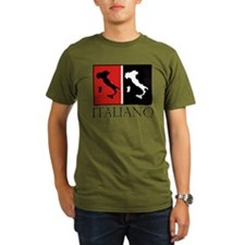 Italiano: Red Black T-Shirt