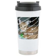 CUSTOMIZE Add Pet Photo and Name Travel Mug