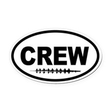 Cute Crew Oval Car Magnet