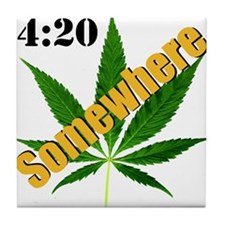 420 Somewhere Tile Coaster