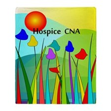 Hospice CNA Throw Blanket