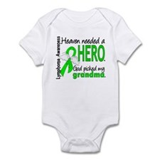 Lymphoma HeavenNeededHero1 Infant Bodysuit