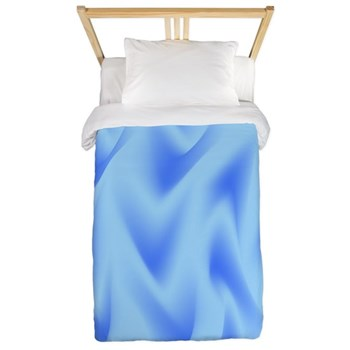 Blue on Blue Waves Twin Duvet