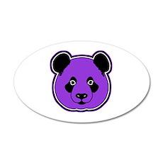 panda head purple 01 35x21 Oval Wall Decal