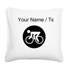 Custom Cycling Square Canvas Pillow