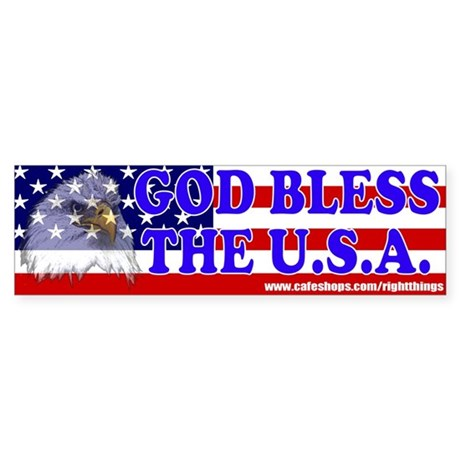 God Bless the U.S.A. Patriotic Bumper Sticker