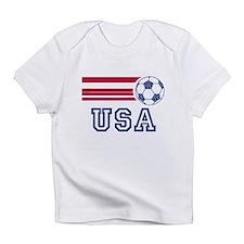 Cute Usa flag soccer Infant T-Shirt
