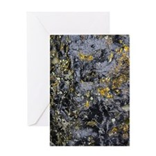 Obsidian and Lichen Greeting Card