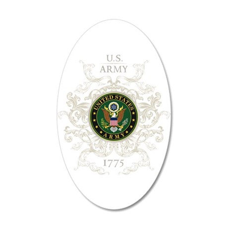 US Army Seal 1775 Vintage 20x12 Oval Wall Decal