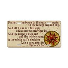 Harvest Moons Compass Rose Aluminum License Plate