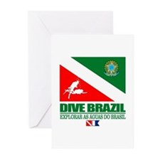 Dive Brazil Greeting Cards