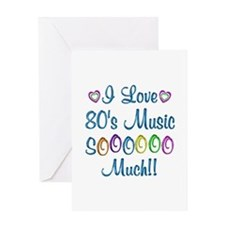 80s Love So Much Greeting Card