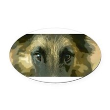 Cute Belgian sheepdog dog Oval Car Magnet