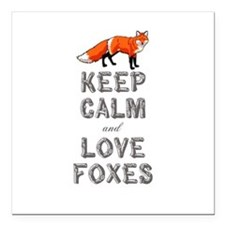 "Fox Square Car Magnet 3"" x 3"""