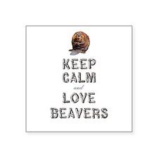 "Wood Badge Beaver Square Sticker 3"" x 3"""