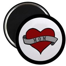 Mom Heart Tattoo Magnet