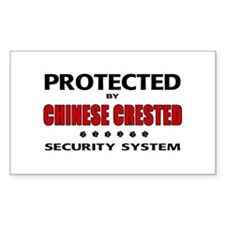 Chinese Crested Security Rectangle Decal