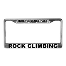 Cute Climb License Plate Frame