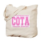 Pink Collegiate COTA Tote Bag