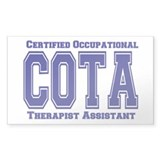 Blue Collegiate COTA Rectangle Decal