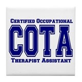 Blue Collegiate COTA Tile Coaster