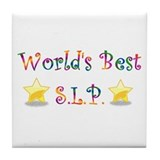 Worlds Best SLP Tile Coaster
