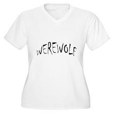 Werewolf Halloween Women's Plus Size V-Neck Tshirt