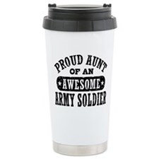 Cute Proud aunt Stainless Steel Travel Mug