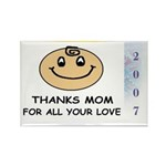 THANKS MOM FOR ALL YOUR LOVE Rectangle Magnet (1