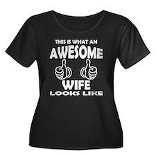 Awesome Wife Looks Like Plus Size T-Shirt