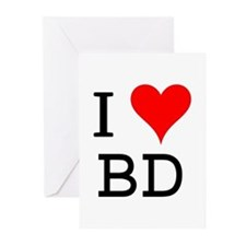 I Love BD Greeting Cards (Pk of 10)
