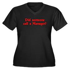 Manager Women's Plus Size V-Neck Dark T-Shirt