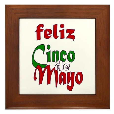 Feliz Cinco de Mayo Framed Tile