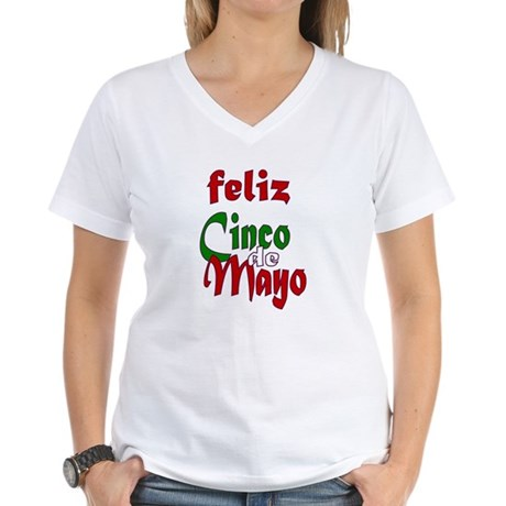 Feliz Cinco de Mayo Women's V-Neck T-Shirt