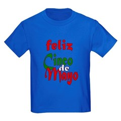 Feliz Cinco de Mayo Kids Dark T-Shirt