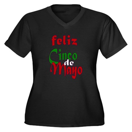 Feliz Cinco de Mayo Women's Plus Size V-Neck Tee