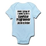Computer programmer brother Bodysuits