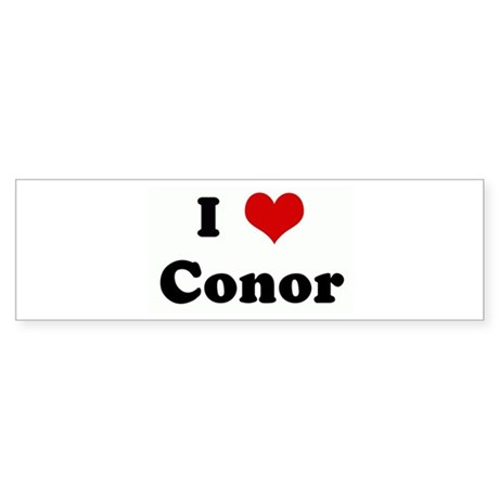 I Love Conor Bumper Sticker