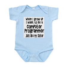 WIGU Computer Programmer Sister Infant Bodysuit