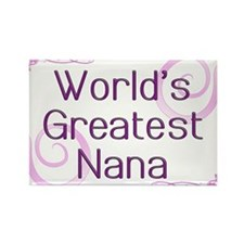 World's Greatest Nana Rectangle Magnet