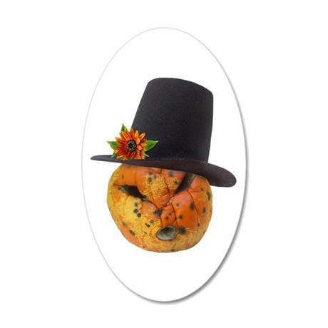 Jack in Hat 35x21 Oval Wall Decal