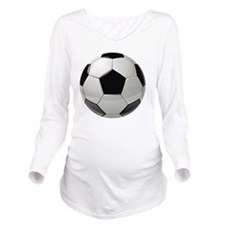 Soccer Ball Long Sleeve Maternity T-Shirt