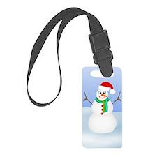 Santa Snowman Luggage Tag